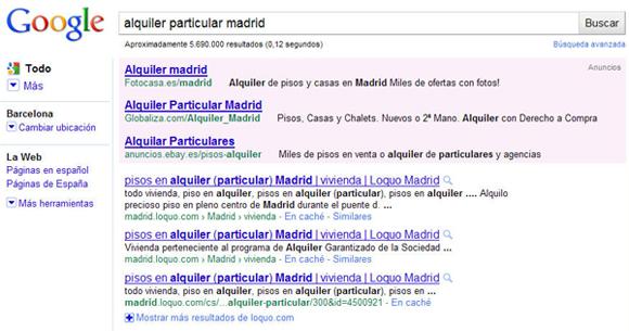 Resultados duplicados Google