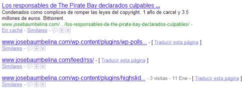 Páginas no crawleadas en los resultados de búsqueda