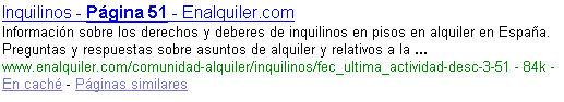 Profundidad indexación Google